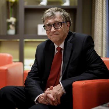Bill Gates, lors d'une conférence du Fonds mondial de lutte contre le sida, la tuberculose et le paludisme, à Lyon, le 9 octobre 2019.
