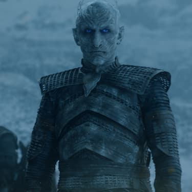 Le Roi de la Nuit, principal antagoniste de la série Game of Thrones.