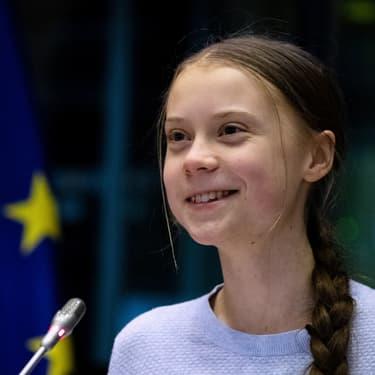 Greta Thunberg au Parlement européen le 4 mars 2020, à Bruxelles