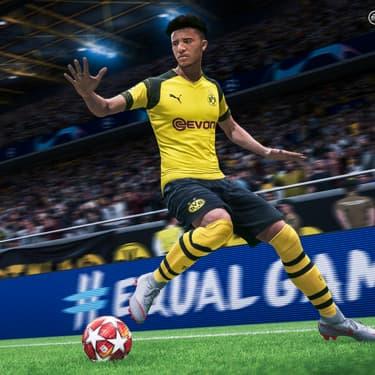 Le prodige anglais du Borussia Dortmund, Jadon Sancho, à l'affiche du prochain FIFA20
