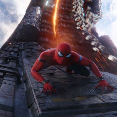 Peter Parker dans le costume de Spider-Man dans le film Avengers : Infinity War, sorti en salles en 2018.