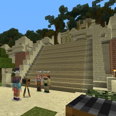 Capture d'écran du jeu Minecraft Education.