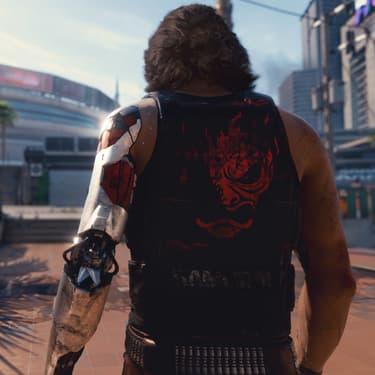Keanu Reeves -ici de dos- incarne un personnage de Cyberpunk 2077