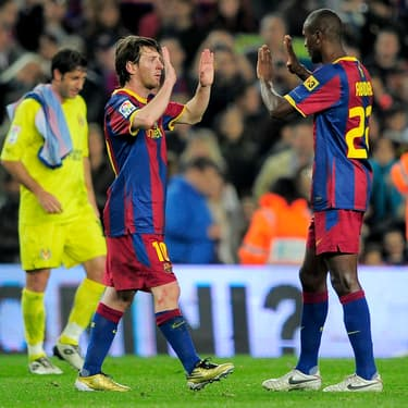 Messi descend Abidal, drôle d'ambiance au Barça