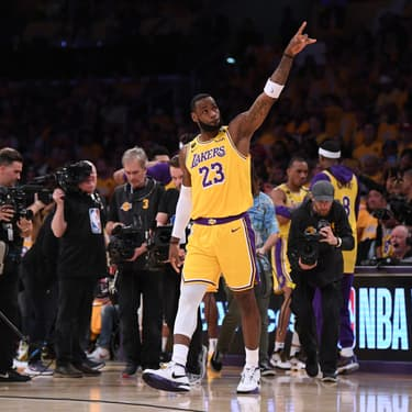 LeBron James lors d'un match des Lakers face aux Portland Trail Blazers, au Staples Center de Los Angeles, le 31 janvier 2020.